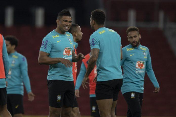 Casemiro, Danilo e Neymar Jr.
