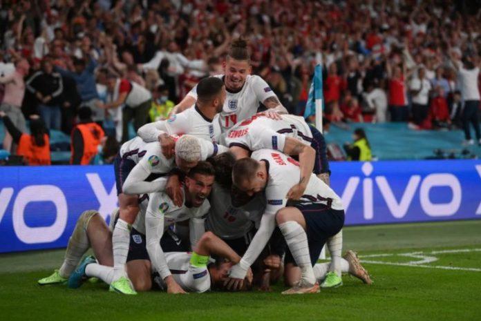 Inglaterra na final da Euro 2020