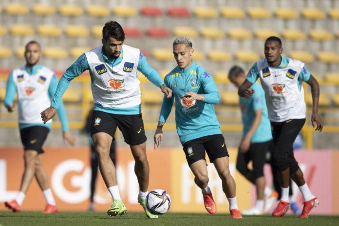 Treino da Seleção Brasileira (Foto: Lucas Figueiredo / CBF)